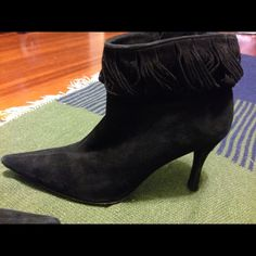 Selling this Black suede BCBG Max Azria booties in my Poshmark closet! My username is: schin. #shopmycloset #poshmark #fashion #shopping #style #forsale #BCBGMaxAzria #Boots