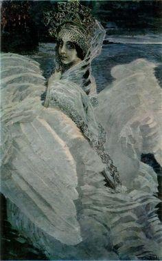 "Mikhail Vrubel (1855-1910, Russia) - ""The Swan Princess"" c.1900"