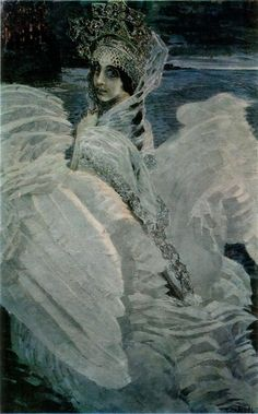"Mikhail Vrubel (1855-1910, Russia) - ""The Swan Princess"" c.1900"