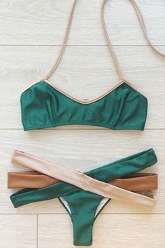 Hollow Out Halter Bikini Set