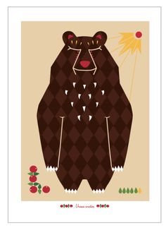 Ursus print via Terese Bast Papershop. Click on the image to see more!