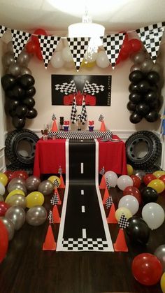 Birthday Party Decorations 190980840431770554 - Racing Themed Birthday – Project Nursery Source by projectnursery 2nd Birthday Party For Boys, Race Car Birthday, Disney Cars Birthday, Monster Truck Birthday, Race Car Party, Cars Birthday Parties, Birthday Party Decorations, Car Themed Birthday Party, Cars Birthday Invitations