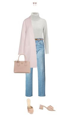 """everything works out in your dreams"" by sharplilteeth ❤ liked on Polyvore featuring N.Peal, RE/DONE, Osvaldo Rossi, Gucci, By Malene Birger, Prada, Miu Miu, Easter, sunday and pastels"