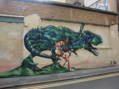 JIM VISION T-REX MURAL  Check out Jim Visions new mural on Christina Street in Shoreditch!