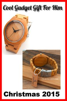2015 Top Christmas Gift Item Bamboo Wood Wristwatches with Wood Strap Wooden Quartz Watches for Men