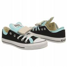 Converse Women's AS Double Tongue Ox Shoe  Blk/Aruba Blue