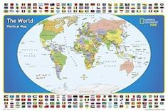 Buy map: World for Kids, Poster-Sized, Boxed by National Geographic – YellowMaps Map Store