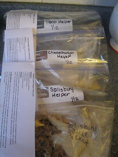 Homemade Hamburger Helper kits!!!!  For my boys that love Hamburger Helper, but no salt or chemicals for me!!!