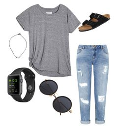 """casual"" by baileyrene1104 ❤ liked on Polyvore featuring Miss Selfridge and Birkenstock"