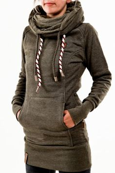 Chic Hooded Long Sleeve Star Hoodie For Women Sweatshirts & Hoodies | RoseGal.com Mobile