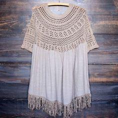 Desert wanderer knit tunic , mocha