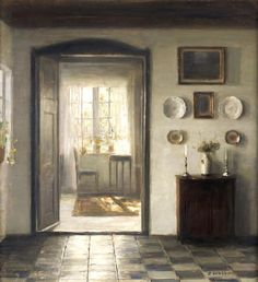 Carl Vilhelm Holsøe (Danish, 1863-1935) The sunlit room