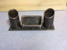 Industrial Iron Desk organizer pen holder pencil holder letter