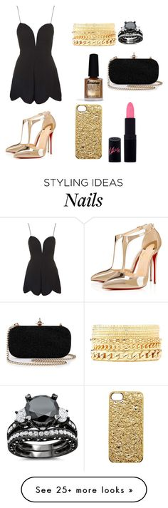 """""""Untitled #347"""" by allycat3474 on Polyvore featuring Rare London, Rimmel, Limedrop, Charlotte Russe, Christian Louboutin and Marc by Marc Jacobs"""