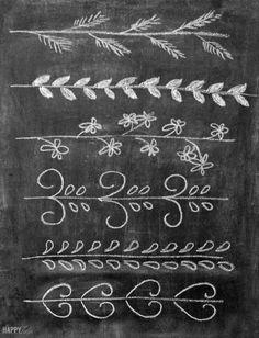 Chalk embellishments tutorial │ thehappytulip.com
