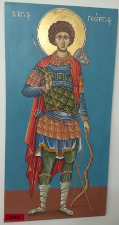 Painting on canvas, Floral Painting, Modern Painting Art for Living Room Hagiography on canvas Saint George Christian World, Christian Faith, Roman Soldiers, Online Gift, Canvas Board, Lutheran, Saint George, Living Room Art, Painting Art