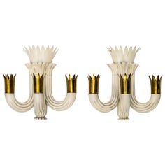 Elegant Pair of Sconces by Pietro Chiesa for Fontana Arte 1