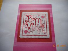 cross stitch valentine card available in etsy shop DebbyWebbysCards