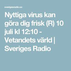 Nyttiga virus kan göra dig frisk (R) 10 juli kl 12:10 - Vetandets värld | Sveriges Radio