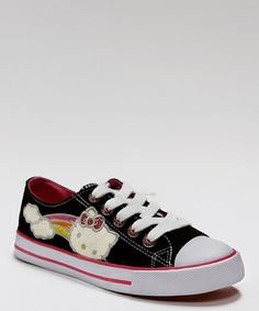 Take a look at this Black Missey Sneaker by Hello Kitty Footwear on #zulily today!