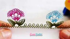 İğne Oyası Çıtı Pıtı Çiçek Modeli Yapımı Videolu Anlatımlı #elişi #örgü #moda Flower Model, Sabyasachi Bride, Crochet Borders, How To Make Necklaces, Bargello, Baby Knitting Patterns, Flower Patterns, Pattern Flower, Pattern Making