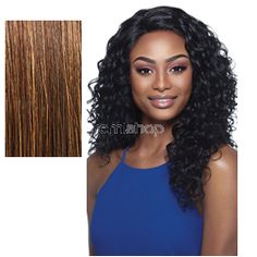 Outre Lace Front Amber - Color S4/30 - Synthetic (Curling Iron Safe) Invisible L-Part Lace Front Wig - Closed Invisible L-Part