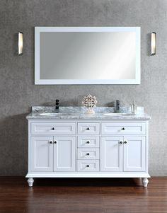 "Annabelle 40 Inch Modern Bathroom Vanity Espresso Finish armada 48"" bathroom vanity white | bathroom | pinterest | 2nd"