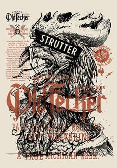 """Strutter"" Beer Print by Keith Neltner"
