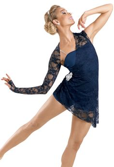 Lace Draped Short Unitard; Weissman Costumes. So pretty