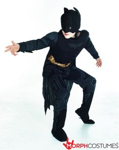 Kids Fancy Dress Costume Inspiration: He's perhaps the ultimate superhero and now you can be the great man as you clean up Gotham City (maybe start with your bedroom). Muscle chest jumpsuit with attached boot tops, headpiece, cape and belt. Officially licensed Batman costume. Amazingly awesome idea for a fancy dress party.