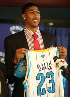 #1 overall NBA draft pick - Anthony Davis - New Orleans Hornets