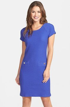Lilly Pulitzer® 'Coco' Textured Short Sleeve Shift Dress available at #Nordstrom