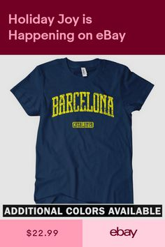 04f46804a04 BARCELONA T-shirt - Catalan Catalunya Spain Espana Catalonia FC - Womens  S-2XL