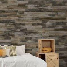 "Novogratz True Shiplap 7.44"" x 46.5"" Peel and Stick Vinyl Wall Paneling & Reviews   Wayfair Vinyl Wall Panels, Wood Panel Walls, Wood Paneling, Wood Wall, Wall Panelling, Allure Flooring, Wood Plank Texture, Peel And Stick Wood, Smooth Concrete"