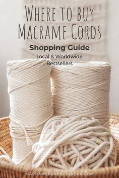 Macrame Plant Hanger Patterns, Macrame Wall Hanging Patterns, Macrame Plant Hangers, Macrame Patterns, Large Macrame Wall Hanging, Macrame Supplies, Macrame Projects, Macrame Cord, Rope Crafts
