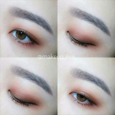 If you suffer from red eyes, even eyeshadow and eyeliner won't be able to create your peepers smoky and sexy. Have a bottle of eye drops or saline solution inside your pocketbook. Korean Beauty Tips, Korean Makeup Tips, Korean Makeup Tutorials, Asian Eye Makeup, Natural Eye Makeup, Asian Beauty, Natural Beauty, Makeup Trends, Makeup Inspo