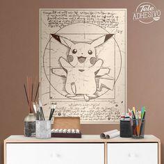 Vinilos Decorativos: Póster adhesivo Pikachu Vitruvio #poster #vitruvio #pikachu #leonardo #lámina #vinilo #TeleAdhesivo Pikachu, Illustration, Boys, Bedroom, Art, Adhesive, Vinyls, Fabrics, Illustrations