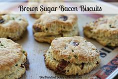 brown sugar bacon biscuits with chives  did somebody say bacon?