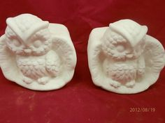Owl Bookend Set  Ceramic Bisque  U-Paint by HandcraftedCeramics