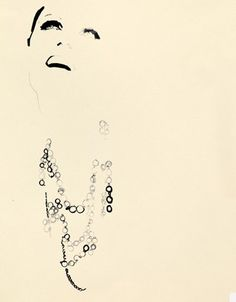 illustration by david downton. part of a new ad for oscar de la renta....love these....