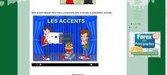 La classe de français: Les accents graphiques et le tréma. Présentation audio et exercices.