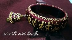 New pattern of silk thread kada ||warli art bangle || periwinkle