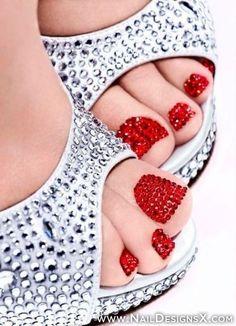 awsome toe nail art - Nail Designs & Nail Art
