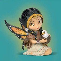 Jasmine Becket-Griffith Dreamsky, The Spirit Of Strength Eagle And Fairy Fantasy Art Figurine Fairy Pictures, Cute Pictures, Kobold, Fairy Figurines, Collectible Figurines, Baby Fairy, Beautiful Fairies, Fairy Art, Fairy Dolls