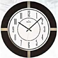 Bulova Inspire Round Wooden Wall Clock. h1Bulova Inspire Round Wooden Wall Clock_h1The Bulova Inspire Round Wooden Wall Clock is sure to become a contemporary classic. This clock comes in a wood case with a rich espresso brown finish. Recessed titanium finish a.. . See More Wall Clocks at http://www.ourgreatshop.com/Wall-Clocks-C1123.aspx