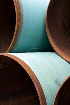 Large steel tubes for a North Sea wind turbine