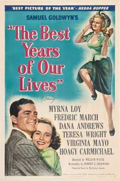 1946: The Best Years of Our Lives drama. The film is about three United States servicemen readjusting to civilian life after coming home from World War ll won seven Academy Awards Best Picture, Best Director (William Wyler), Best Actor (Fredric March), Best Supporting Actor (Harold Russell), Best Film Editing (Daniel Mandell), Best Adapted Screenplay (Robert Sherwood), and Best Original Score (Hugo Friedhofer). had highest viewing figures of all time, with ticket sales exceeding $25.4…