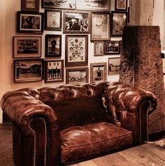 a place of my own to escape to read and create. A tufted leather chesterfield chair a place of my own to escape to read and create. A tufted leather chesterfield chair Vintage Industrial, Industrial Style, Industrial Lighting, Industrial Man Cave Ideas, Industrial Design, Estilo Country Chic, Leather Chesterfield Chair, Leather Couches, Tufted Couch
