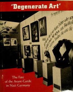 """LACMA 1991, recreation of the 1930's German exhibit, according to LA Times """"like looking into the eyes of a cobra""""... each piece labeled with the Nazi quotation describing its deviance!"""