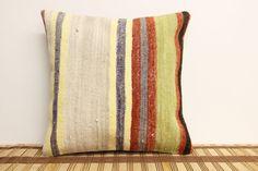 Decorative Kilim Pillow 12 x 12 Vintage Pillow by kilimwarehouse, $29.00
